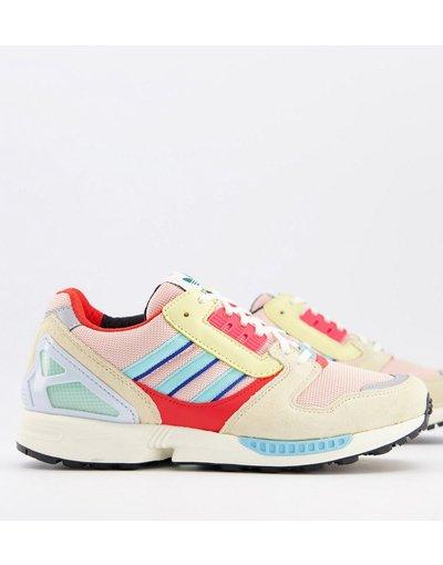 Stivali Rosa uomo adidas Originals - Sneakers rosa - ZX 8000