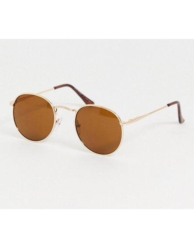 Occhiali Oro uomo Occhiali da sole rotondi oro - AJ Morgan