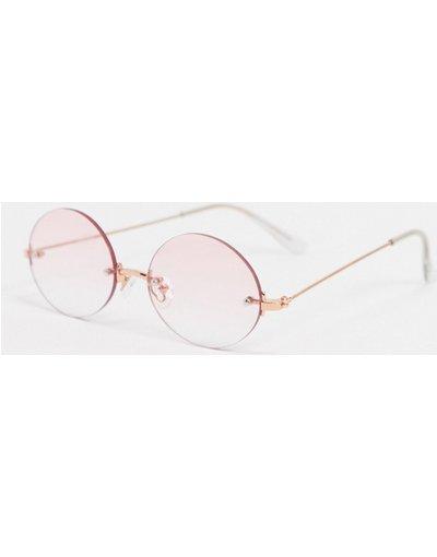 Occhiali Rosa uomo Occhiali da sole rotondi rosa - AJ Morgan