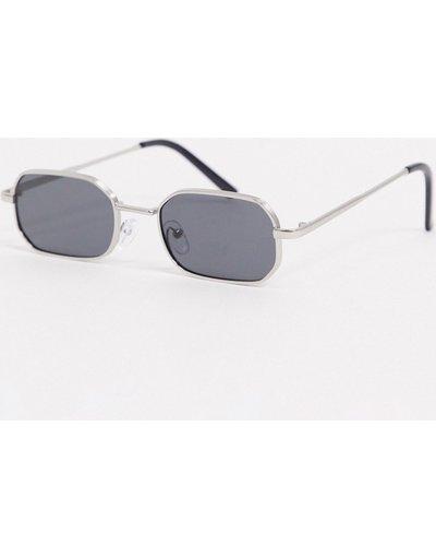 Occhiali Argento uomo Occhiali da sole slim squadrati argento - AJ Morgan
