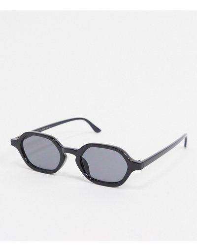 Occhiali Nero uomo Occhiali da sole slim squadrati neri - AJ Morgan - Nero