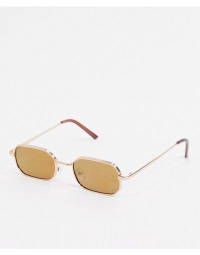 Occhiali Oro uomo Occhiali da sole slim squadrati oro - AJ Morgan