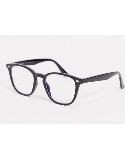 Occhiali Nero uomo Occhiali per luce blu rotondi neri - AJ Morgan - Nero