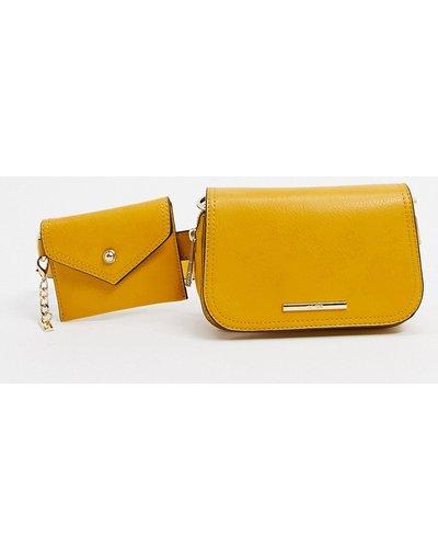 Borsa Giallo donna Borsa multi con cintura e pochette gialla - Giallo - Aldo