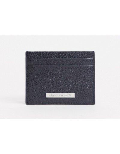Portafoglio Nero uomo Portacarte nero con logo - Armani Exchange
