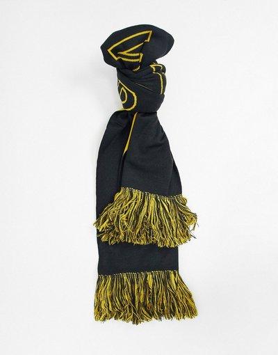 Nero uomo Sciarpa nero/giallo con logo - Armani Exchange