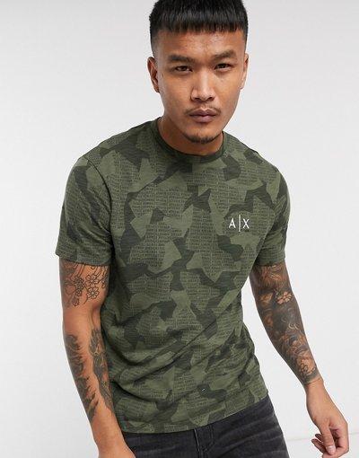 T-shirt Verde uomo shirt kaki mimetica - Armani Exchange - Verde - T