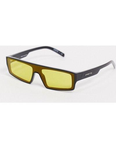 Occhiali Nero uomo Occhiali da sole neri con lenti gialle - Arnette x Post Malone - Nero
