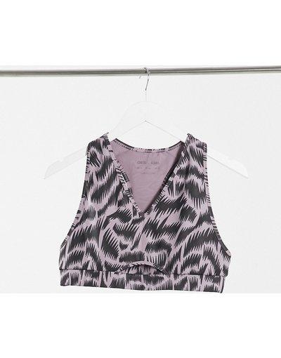 Grigio donna Reggiseno con dorso a vogatore e stampa leopardata - ASOS 4505 - Grigio