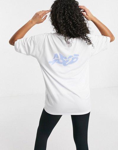 T-shirt Bianco donna shirt oversize con logo - ASOS 4505 - Bianco - T