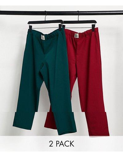 Pigiami Multicolore uomo Confezione da 2 paia di pantaloni del pigiama - ASOS Actual - Multicolore