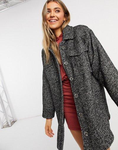 Multicolore donna Camicia giacca sale e pepe - Multicolore - ASOS