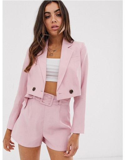 Rosa donna Blazer corto da abito rosa - ASOS DESIGN