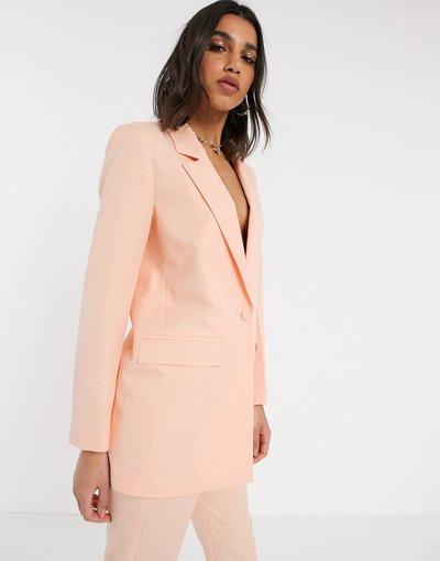 Rosa donna Blazer da da abito stretto - ASOS DESIGN - Rosa