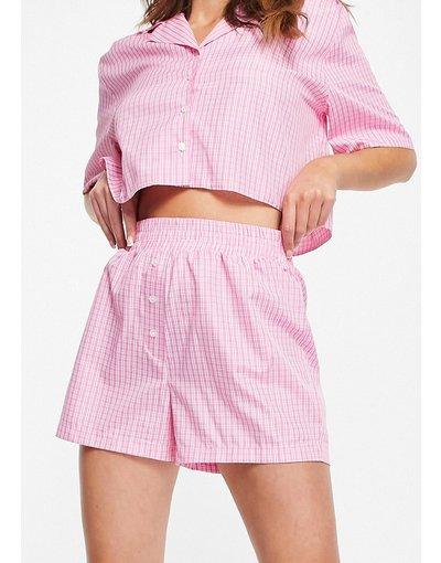 Pigiami Rosa donna Boxer del pigiama rosa a quadri - ASOS DESIGN