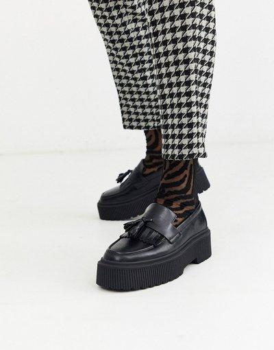 Calze Nero uomo Calzini alla caviglia con stampa zebrata trasparente - ASOS DESIGN - Nero
