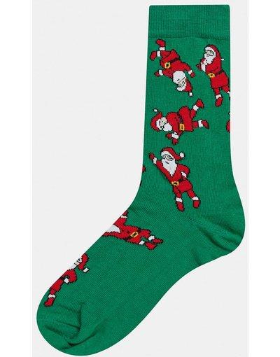 Calze Multicolore uomo Calzini con Babbo Natale che balla - ASOS DESIGN - Multicolore