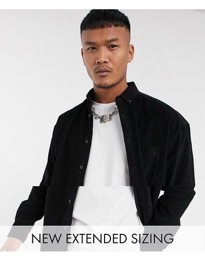 Camicia Nero uomo Camicia a coste oversize stile anni'90 nera - ASOS DESIGN - Nero