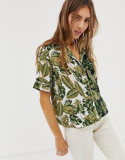 Camicia Multicolore donna Camicia hawaiana con stampa mix&match - ASOS DESIGN - Multicolore