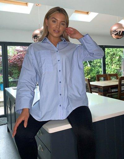 Camicia Multicolore donna Camicia oversize a maniche lunghe in cotone a righe - ASOS DESIGN - Multicolore