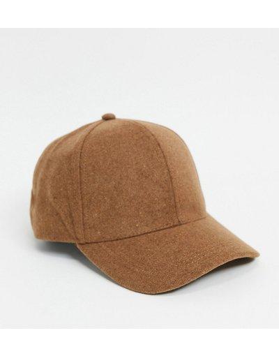 Cappello Cuoio uomo Cappello con visiera in lana melton color cammello - ASOS DESIGN - Cuoio