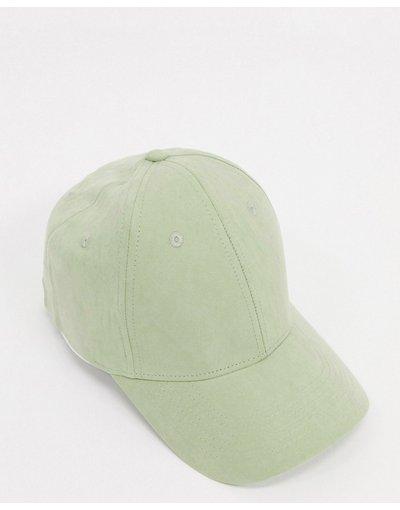 Cappello Verde uomo Cappello con visiera in morbido tessuto verde chiaro - ASOS DESIGN