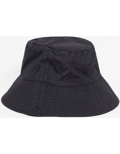 Cappello Nero uomo Cappello da pescatore con falda larga nero in nylon - ASOS DESIGN