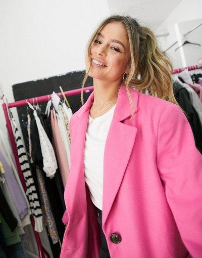 Rosa donna Cappotto serafino rosa - ASOS DESIGN