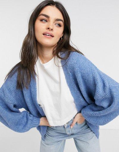 Blu donna Cardigan oversize blu - ASOS DESIGN