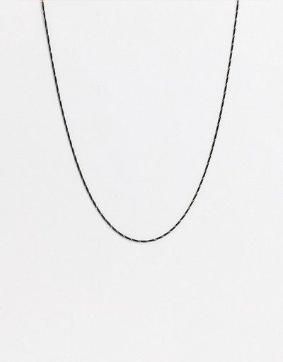 Occhiali Nero uomo Catena sottile per occhiali in metallo effetto corda nero - ASOS DESIGN