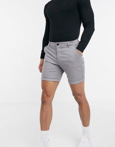 Grigio uomo Chino corti slim grigio chiaro - ASOS DESIGN