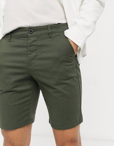 Verde uomo Chino corti slim verde - ASOS DESIGN