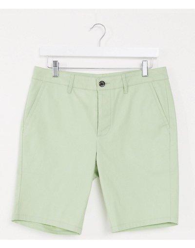 Verde uomo Chino corti super skinny verde pastello - ASOS DESIGN