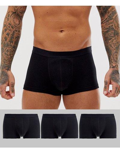 Calze Nero uomo Confezione da 3 boxer aderenti corti neri - ASOS DESIGN - Risparmia - Nero