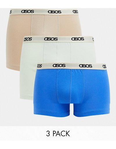 Calze Multicolore uomo Confezione da 3 boxer aderenti dai colori pastello - ASOS DESIGN - Multicolore - Risparmia