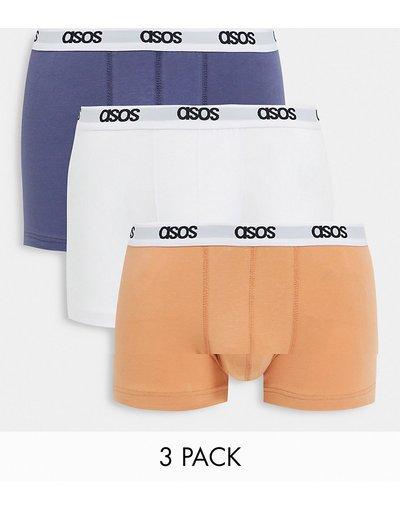 Intimo Multicolore uomo Confezione da 3 di boxer aderenti colori pastello - ASOS DESIGN - Multicolore