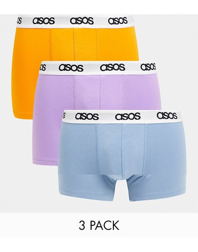 Calze Multicolore uomo Confezione da 3 paia di boxer aderenti in colori accesi misti - ASOS DESIGN - Multicolore