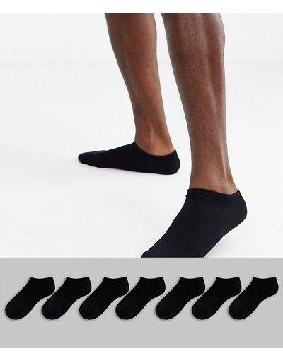 Calze Nero uomo Confezione da 7 fantasmini neri - ASOS DESIGN - Nero