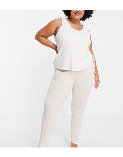 Pigiami Bianco donna Leggings del pigiama in jersey crema - ASOS DESIGN Curve - Mix&Match - Bianco