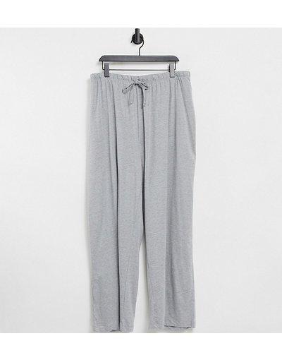 Pigiami Grigio donna Pantaloni del pigiama dritti Mix&Match grigio mélange - ASOS DESIGN Curve
