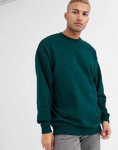 Felpa Verde uomo Felpa lunga oversize verde scuro - ASOS DESIGN