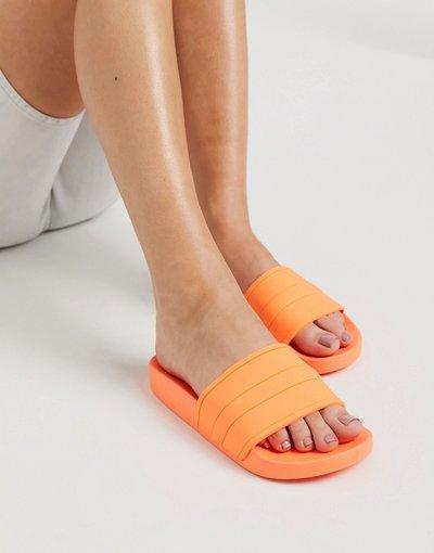Infradito Arancione donna Sliders da piscina arancione fluo - ASOS DESIGN - Freya