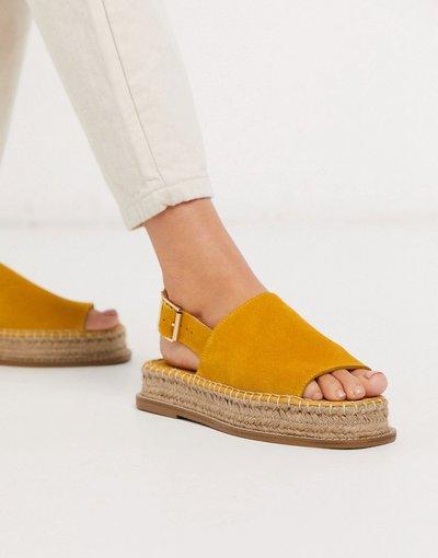 Scarpa bassa Giallo donna Espadrilles flatform giallo scamosciato - ASOS DESIGN - Hannah