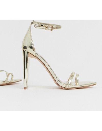 Sandali Oro donna Sandali effetto nudo oro con tacco largo - ASOS DESIGN - Harper