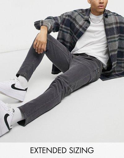 Jeans Nero uomo Jeans affusolati nero slavato - ASOS DESIGN
