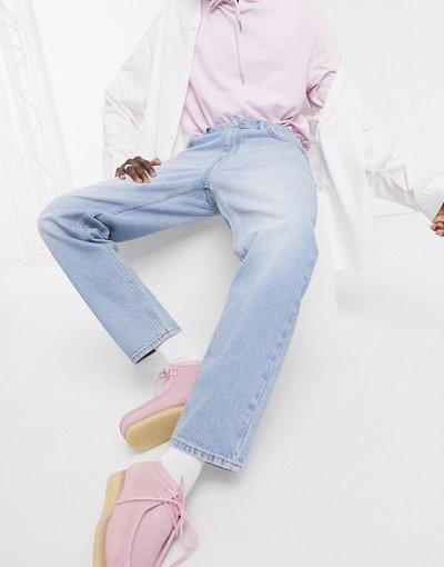 Jeans Blu uomo Jeans classici rigidi lavaggio chiaro blu vintage - ASOS DESIGN