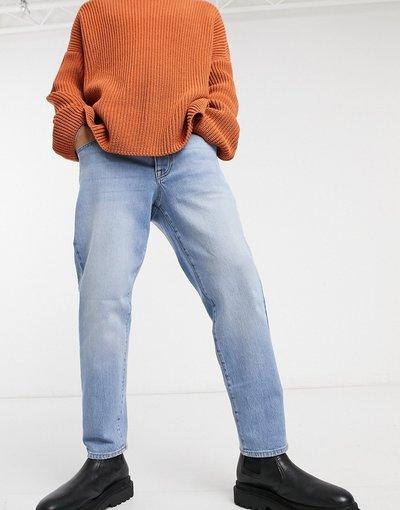 Jeans Blu uomo Jeans elasticizzati classici lavaggio chiaro sfumato - ASOS DESIGN - Blu