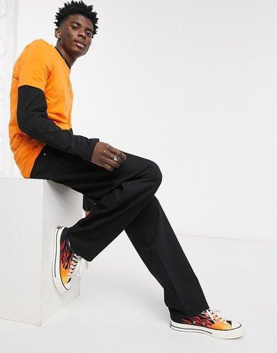 Jeans Nero uomo Jeans larghi neri - ASOS DESIGN - Nero