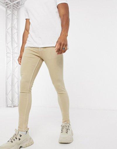 Jeans Pietra uomo Jeans power stretch effetto spray grigio pietra - ASOS DESIGN