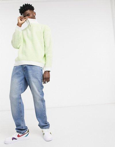 Jeans Blu uomo Jeans regular lavaggio blu medio slavato - ASOS DESIGN